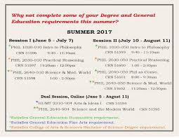 philosophy humanities summer 2017 courses