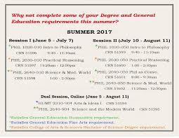 philosophy humanities summer 2017 courses