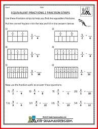 1000+ images about Math (3rd Grade) on Pinterest | Equivalent ...Equivalent Fractions 2, a math fraction worksheet for 4th graders
