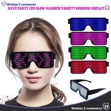 Rave Party <b>LED Glow Glasses</b> Variety Designs Display USB ...