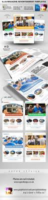 x clean magazine advertisement templates advertisement template 4x clean magazine advertisement templates magazines print templates ad advert advertisement building