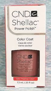 <b>CND Shellac SATIN</b> PAJAMAS~<b>Intimates</b> Collection~opaque nude ...