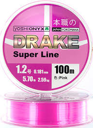 <b>Леска Yoshi Onyx DRAKE</b> SUPERLINE 100 M 0.128 mm Pink 89460