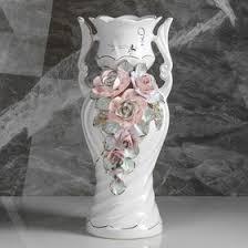 "<b>Ваза</b> напольная ""Верита"", лепка, цветы, <b>42 см</b>, микс, керамика ..."