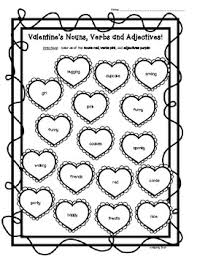 4d5e02ba438d3c85f0f7600e166d3cef valentine's day nouns, verbs and adjectives worksheet student on adjective paragraph worksheets