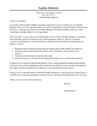 best branch manager cover letter examples livecareer edit