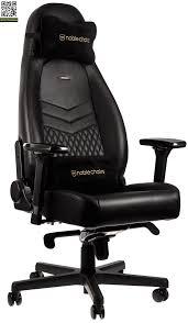 <b>Игровое кресло Noblechairs Icon</b> Real Leather (Черный) заказать ...