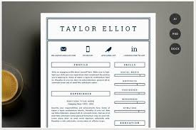 one color simple resume template with social icons for word modern professional resume templates