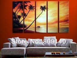 aliexpresscom buy free shipping sea sunset seascape oil painting canvas artwork high quality handmade home office wall art decor decoration gift from artwork for office walls