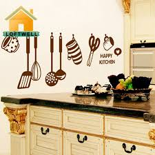 DIY <b>Removable Happy Kitchen</b> Home Art Mural Decor Wall Stickers ...