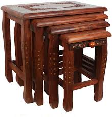 Nest of Tables - Buy <b>Nesting Tables</b> Online at Best Prices in India