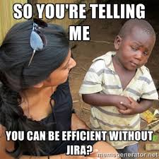 So you're telling me You can be efficient without Jira? - So You ... via Relatably.com