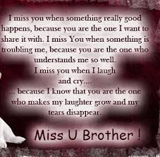 Miss you brother... | Billy... | Pinterest | Miss You, Brother and ... via Relatably.com