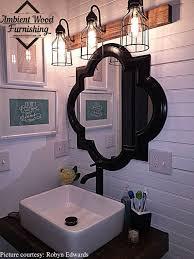 vintage style bathroom lighting. Bathroom Cages Vanity Bar Light Fixture Industrial By AmbientWood Vintage Style Lighting U