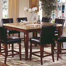 Marble Top Kitchen Table Set High Top Kitchen Tables Piece Marble Top Counter Height Square
