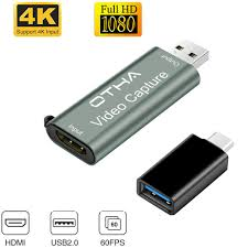 OTHA <b>Video</b> Audio Capture Card,HDMI to <b>USB</b> 2.0, FHD 1080p ...