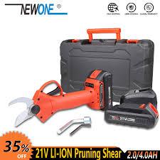 [Big Discount] NEWONE 16.8V/<b>21V cordless</b> Fruit <b>Pruning</b> Shears ...