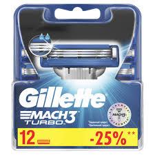 Сменные <b>кассеты Gillette Mach3 Turbo</b> 12 шт - отзывы ...