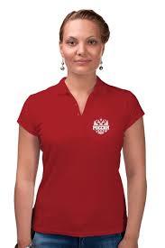 """Рубашка Поло """"Россия"""" #2135923 от gopotol - <b>Printio</b>"""