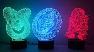 <b>3D</b> illusion novelty <b>LED lamps</b> - YouTube