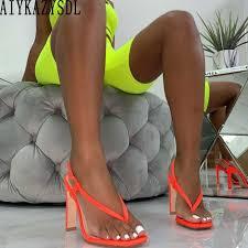 AIYKAZYSDL <b>Women</b> Clear Transparent Wedge Heels Sandals ...