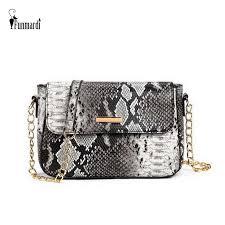 <b>FUNMARDI</b> New Women Messenger Bags Snake Skin Designer ...