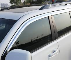 <b>ABS Chrome plastic Window</b> Visor Vent Shades Sun Rain Guard car ...