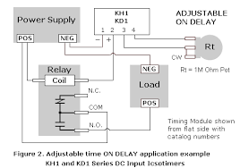 ics time delay module applications and wiring adjustable delay module application