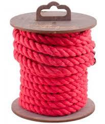 <b>Хлопковая веревка для</b> шибари на катушке <b>красная</b> 5 м