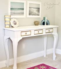 spray painted white console table centsational girl painting furniture