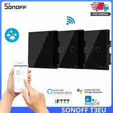 <b>SONOFF T3EU TX</b> 433 RF Remote Control Smart Wifi Wall Touch 3 ...