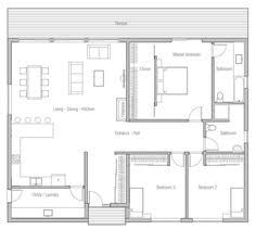 ideas about Affordable House Plans on Pinterest   Floor    MODERN  SIMPLE  AFFORDABLE TO SQ FT  look in plan About before addinv additional bedroom