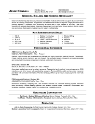 medical assistant resume samples medical billing times
