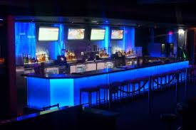 led backlit bar with architectural glass bar lighting design
