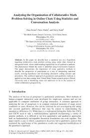 analyzing the organization of collaborative math problem solving inside