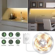 Under Cabinet <b>Lighting</b>, Motion Activated <b>LED Strip Lights</b> Kit ...