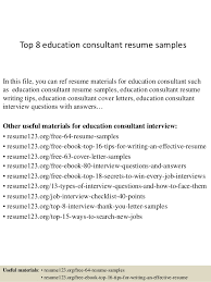 top  education consultant resume samplestop  education consultant resume samples in this file  you can ref resume materials for