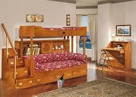 fabulous wood bunk bed with awesome modern kids desks 2 unique kids