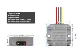 <b>36V 48V</b> to 12V 3A <b>DC</b> voltage <b>regulator converter</b> 48V to 12V 36W ...