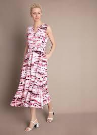 <b>Принтованное платье из вискозного</b> крепа (LR3WA1-02) купить ...