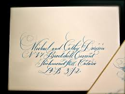 dinner party invites letters in ink address