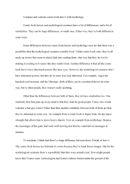 compare and contrast sample essay college  essay example  examples compare and write college essay resume design