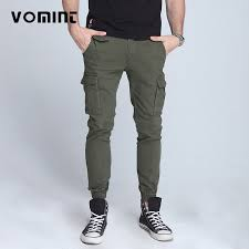 Vomint <b>New men's</b> pants Elastic foot close Skinny Pants <b>Tactical</b> ...