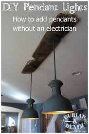 this diy tutorial teaches you how to add pendant lights over a kitchen island without an electrician this upcycled vintage industrial lighting is made from awesome vintage industrial lighting fixtures remodel
