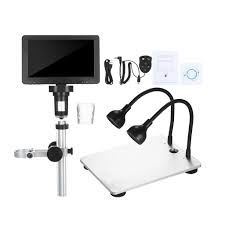 7-inch LCD <b>Digital Microscope 1200X</b> Magnification Portable ...