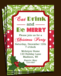 christmas cocktail party invitation invitations card printable christmas invitation wording for a company party