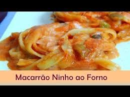 Resultado de imagem para IMAGENS DE RECEITAS DE MACARRONADA DE NINHO