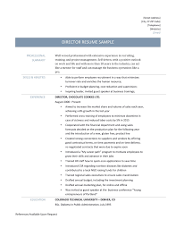 driver resume samples and tips director resume page 001