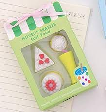 THREE 4Pcs/Box <b>Kawaii Ice cream</b> Hamburger Erasers for Office ...