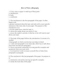 to write a personal biography essay how to write a personal biography essay